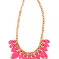 Pink Champagne Statement Necklace | Monday Dress Boutique