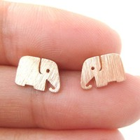 Cute Elephant Shaped Stud Earrings in Rose Gold | Allergy Free from Dotoly Plus