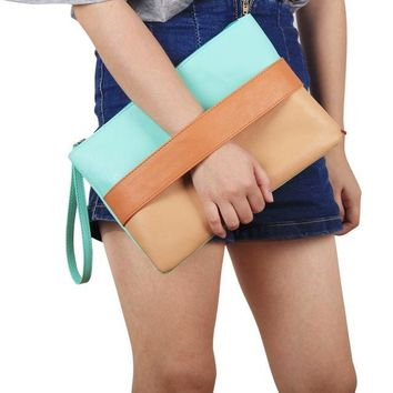Oversize Leather Day Clutch