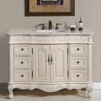 "Silkroad Exclusive Ella 48"" Bathroom Vanity Chest & Sink Set"