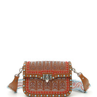 Valentino Garavani Guitar Rockstud Rolling Medium Embroidered Shoulder Bag