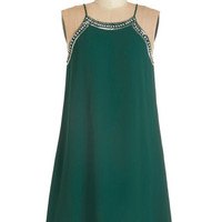 ModCloth 20s Mid-length Spaghetti Straps Shift Gallery Curator Dress