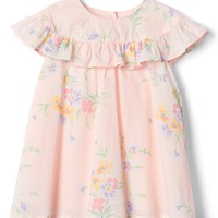 Floral Ruffle Dress|gap
