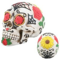 Day of the Dead Dod Tattoo Sugar Skull Head Display Decoration