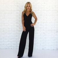 Midnight Crisp Jumpsuit in Black