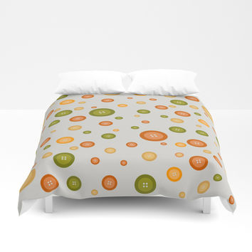 Multicolor buttons pattern. Fruit Duvet Cover by ArtGenerations