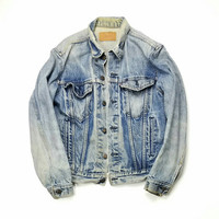 Levi's Denim Trucker Jacket Size 40 Made In USA