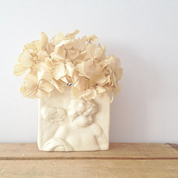 Angel wall Hanging - Wall Planter - Cube Shabby Chic Wall Decor