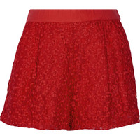 Maje Fleurir embroidered-mesh shorts – 59% at THE OUTNET.COM