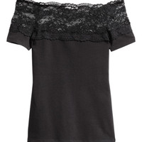 H&M Top with Lace Yoke $9.99