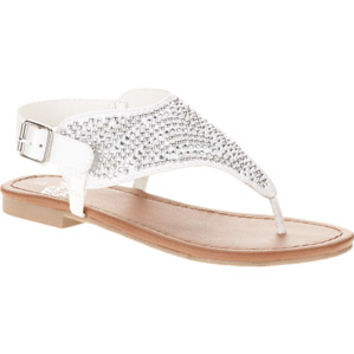 Walmart: Faded Glory Girls'SATIN Rhinestone Thong Sandal