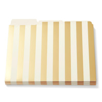 kate spade new york Gold Stripe File Folders