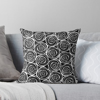 'Black roses' Throw Pillow by juliagrifol