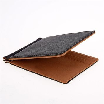 Men's Wallets Leather Money Clips