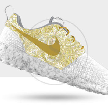 Custom Nike Rose Run Premium iD Gold Marble