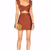 Bond Babe Cutout Bandage Mini Dress