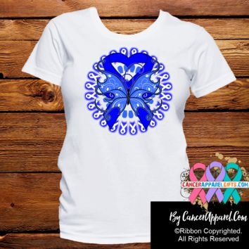 Colon Cancer Stunning Butterfly Shirts