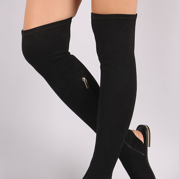 Suede Over-The-Knee Boot Sandal   UrbanOG
