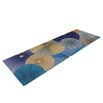 "Heidi Jennings ""Suspension"" Gold Blue Yoga Mat"