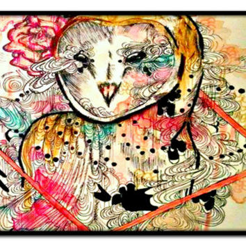 Laptop Case - Laptop cover - Laptop bag - Owl Laptop case - Animal Laptop case - Laptop sleeve