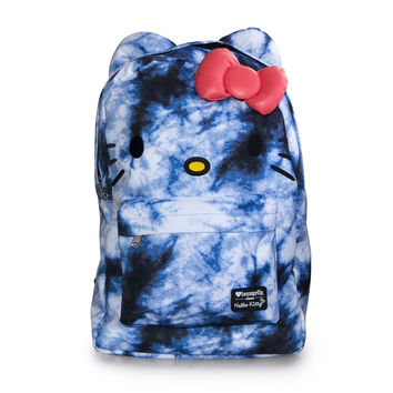 Hello Kitty Loungefly Blue Tie Dyed Backpack Bag