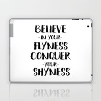 Inspirational Quote Travel Quote  Print Watercolor Letters Typography Print Wall Art Motivated Laptop & iPad Skin by PrintableLifeStyle