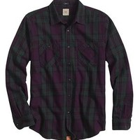 Dockers The Flannel Shirt - Purple,Tan - Men's