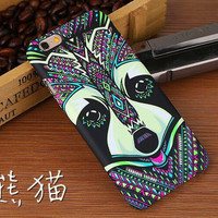 Indian Art MultiColor with Cute Black & WhiteAnimal Face Phone Case For iPhone 7 7Plus 6 6s Plus 5 5s SE