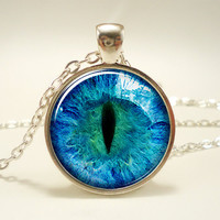 Dragon Eye Necklace, Third Eye Jewelry, Evil Eye Pendant (1134S1IN)