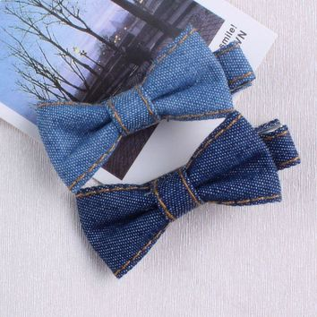 Denim Bow Brazilian style Kids Baby Hair Clip Pin Bows Hairpin Fashion Accessories For Girl Children Hairclip Barrette Headdress
