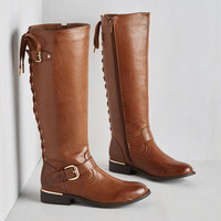 Military On Vocation Time Boot in Cognac