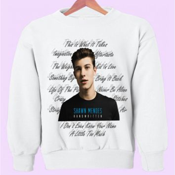 "Shawn Mendes ""Handwritten"" Album Crewneck"