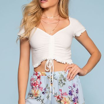 Sunday Blossom Floral Shorts - Blue