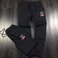 ONETOW Supreme Fashion Embroidery Pants Trousers Sweatpants