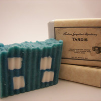 Doctor Who, Tardis, Handcrafted Luxury Bar Soap