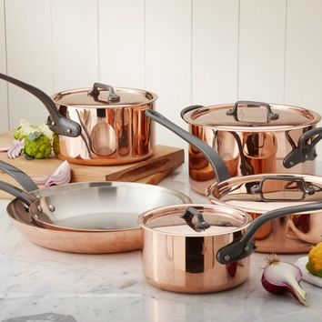 Mauviel M250 Copper 10-Piece Cookware Set