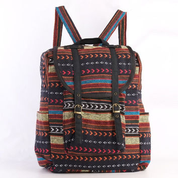 Large Hipster Backpack Native Tribal Day pack Stylish Collage, School Backpack for Men/Women