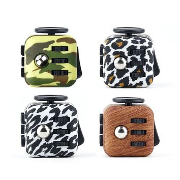 """1.3"""" Camouflage Mini Fidget Cube, Anti-Anxiety Relieves Stress and Depression, Calming Focus Toy for Children and Adults - Perfect Gift for Autism Anger ADD ADHD & PTSD"""