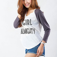 One Direction T Shirt Girl Almighty Shirt for Womens Girls Teen Tops Fashion Blogger Cute Sassy Hipster Tumblr Grunge Instagram Gift Ideas