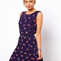 Oasis Flamingo Skater Dress