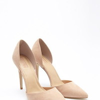 Pointed Faux Suede Pumps