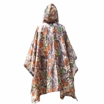 3 in 1 Raincoat Outdoor Camping Travel Rain Poncho Backpack Multifunctional Rain Cover Waterproof Tent Awning Climbing Hiking