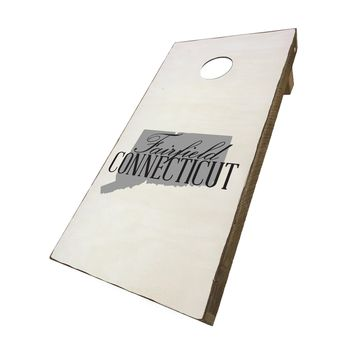 Fairfield Connecticut with State Symbol | Corn Hole Game Set