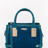 River Island Mini Tote with Hinge Detail