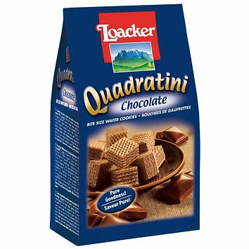 Quadratini Large Chocolate Wafer Cookies by Loacker 8.8 oz