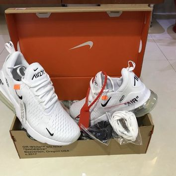 Off-White x Nike Air Max 270 White Running Shoe