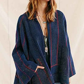 Urban Renewal Recycled Kantha Quilt Coat-