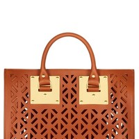 Women's Sophie Hulme Perforated Leather Bowling Bag