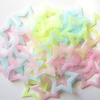 40PCS DIY Mixing Kids Bedroom Fluorescent Glow In The Dark Stars Wall Stickers Home Decor For Living Room Ceiling Decoration