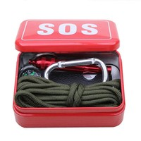 LONMF Outdoor equipment with paracord  emergency  survival box SOS Camping Hiking  tools Hiking saw/fire tools,Camping Hiking saw/fire